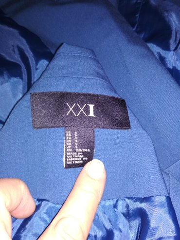 Продаю пиджак 44й р. Б/у. Цвет бирюзовый. в Бишкек