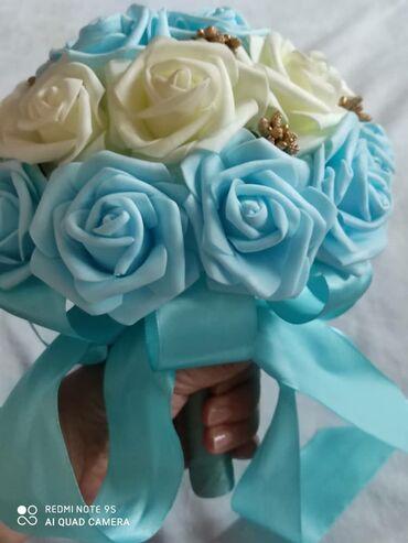 свадебный букет в Кыргызстан: Свадебный букет невесты  Цветы исскусственные
