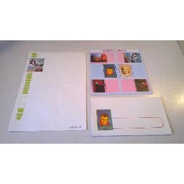 Σετ αλληλογραφίας παλαιό - δεκαετίας 19805 επιστολόχαρτα - 5 φάκελοι -