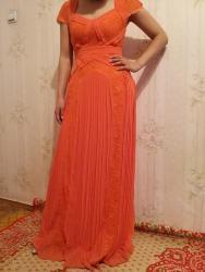 ярко розового цвета в Кыргызстан: Очень красивое платье. Цвет ярко оранжевый. Размер 38 турецкий или 44