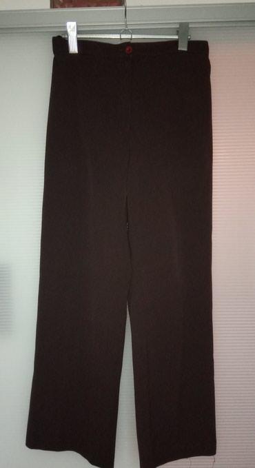 Pamuk-kvalitetne-pantalone - Srbija: Kvalitetne braon pantalone, dublji struk, šire nogavice. Materijal