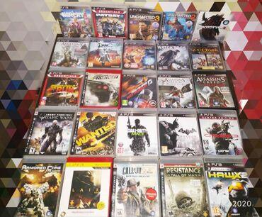 PLAYSTATION 3 oyun disklerin satişı. Qiymetler 10/15/20/25/30 azn