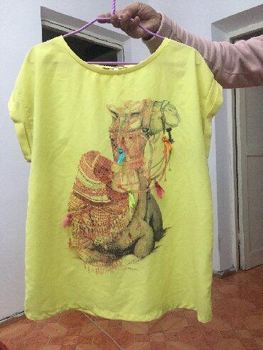 туника желтая в Кыргызстан: Женская блузка в отличном состоянии производство Турцияткань 80%