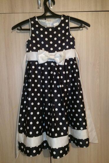 Красивое платье в горошек для 6 летней девочке,если помыть будет