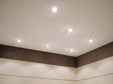 Белый матовый потолок легко моется, не в Бишкек