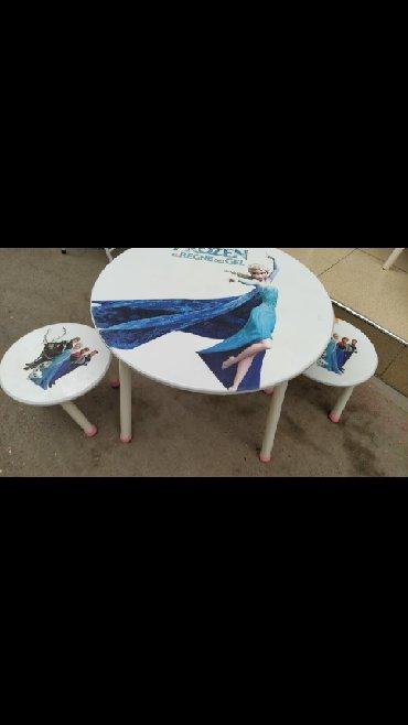 uşaq oturacaqları - Azərbaycan: Uşaq üçün masa ve oturacaq diametr 60 catdirilma var