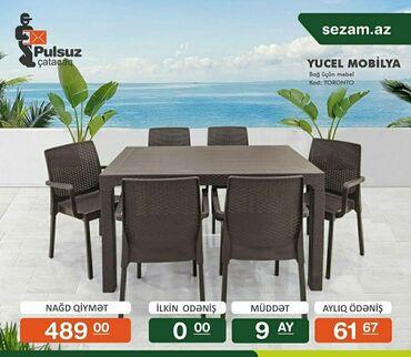 Bağ mebeli - Azərbaycan: Tek wexsiyyet vesiqesiyle kridit verilir zaminsiz arayiwsiz kirayede