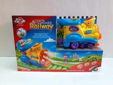 Bebi lokomotiva sa šinama, zvučni i svetlosni efekti, muzičkiCena 2600