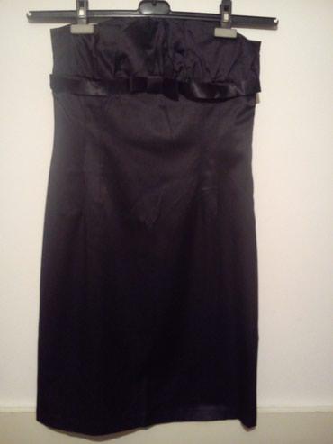 Saten crna haljina,nova - Belgrade