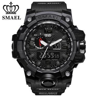 армейский термос в Кыргызстан: Новые часы smael 1545 мужские, спортивные, армейские для плавания, с