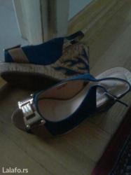 Sandale nove kraljevsko plave ne obuvane vel 37 jos slika na viber