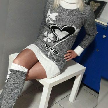Džemper rolka odlična trikotaža komplet sa grejačima - Batajnica