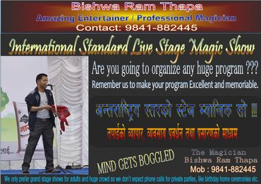 International Standard Stage Magic Show, Amazing entertainment you in Kathmandu