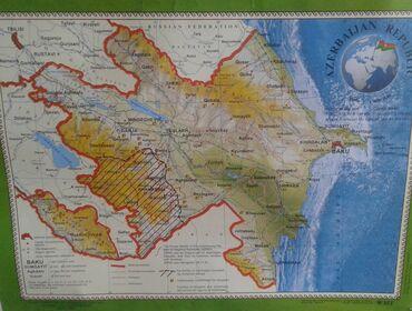 İngilis dilində olan Azərbaycan Respublikasının kiçik xəritəsi satılır