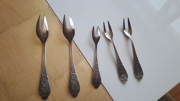 Мехиор с серебром,вилки для сырамяса