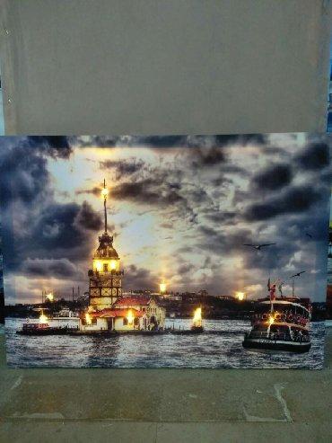 usb led traka za tv - Azərbaycan: Led işıqlı dekorativ tablolar (telefon USB kabeli ilə və/vəya saat