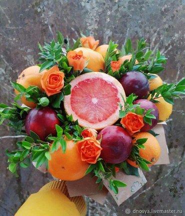 Букеты из фруктов и цветов. Вкусно, в Лебединовка