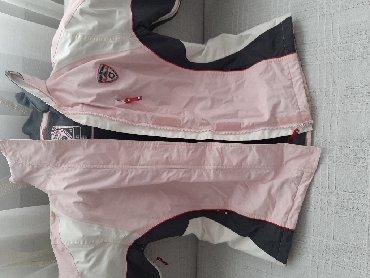 Bunda-nerc-nozice-sa-kapuljacom-izgleda-uzivo - Srbija: Nova ski jakna  nenosena broj 40 roza siva boja sa kapuljacom . TC