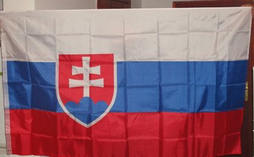 Velika zastava slovačke, dimenzija 150x90cm, nova, upakovana  sa dva - Beograd