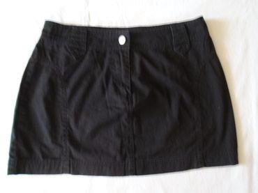 Suknja struka od - Srbija: Crna, mini suknjica Vero moda od 100% pamuka + plus na poklon bolero u