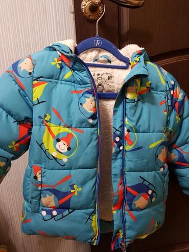Фирменная куртка на теплую зиму на 4 года