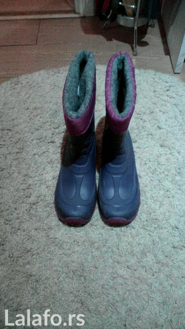 Dečije Cipele i Čizme | Pancevo: Gumene cizme za devojcice,br. 36 nosene 3 puta,male su. Sivi futirani