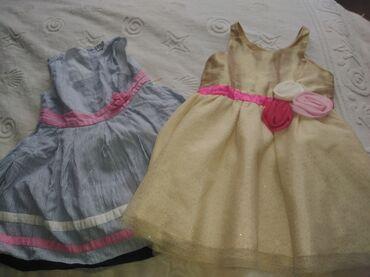 Haljinice za devojcice, izuzetno ocuvane. Zlatna je vel 92 a plava je