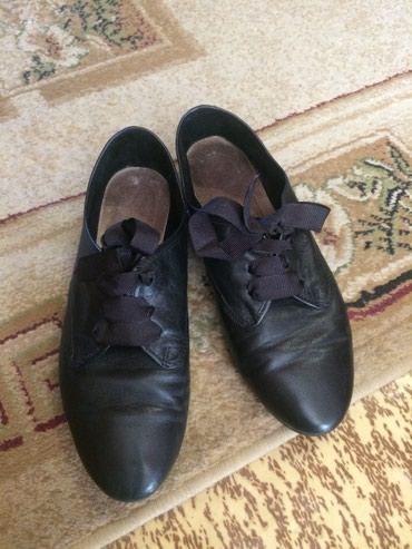 Оксфорды в Кыргызстан: Легкая женская кожаная обувь на весну! На тонкой подошве. Размер 37