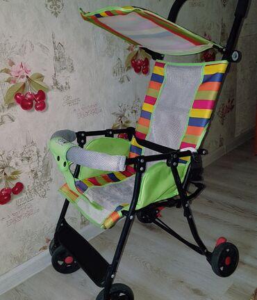 Детский мир - Ош: Продается удобная легкая детская коляска г. Ош. Вес: 3.5 кг, с
