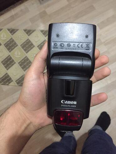 Foto və videokameralar - Azərbaycan: Canon 430 ex flash,yeni kimidir, alinan gunnen cox az istifade