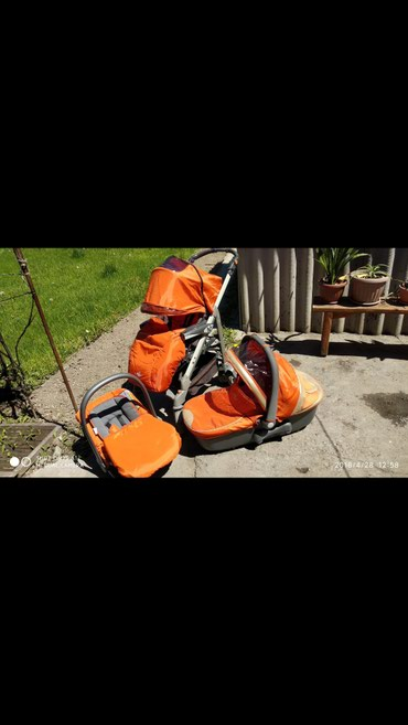 Итальянская коляска,3 в 1,в комплекте в Novopokrovka