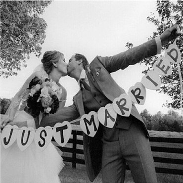 Just married  natpis - Pozarevac