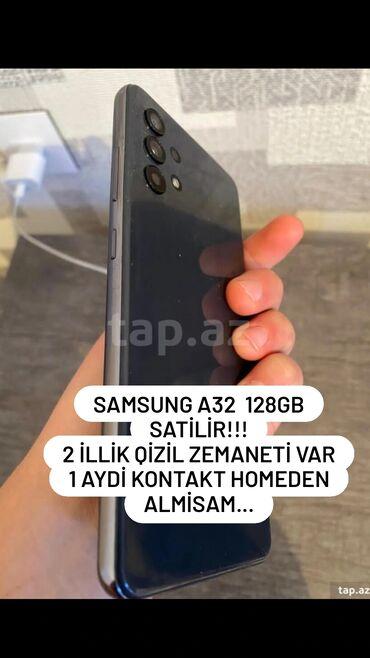 265 elan: Samsung Galaxy A32 | 128 GB | Boz | Zəmanət, Sensor, Barmaq izi