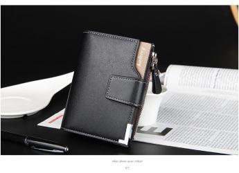 Izuzetan muški novčanik od veštačke kože, crne boje. Dimenzije - Zrenjanin