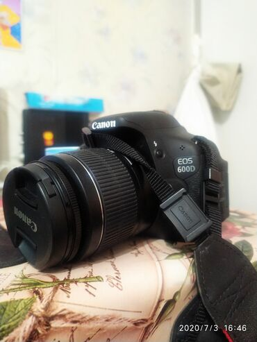 купить-canon-600d в Кыргызстан: Canon 600D по состоянию идеал. Пользовались очень мало.комплект сумка