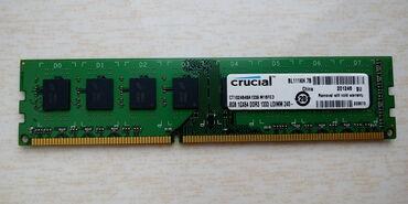 DDR3 8GB (Crucial) PC3MHz.Test olunub. Протестировано