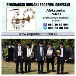 Beogradski sindikat - Srbija: Beogradski duvački pogrebni orkestar, sastavljen od profesionalnih