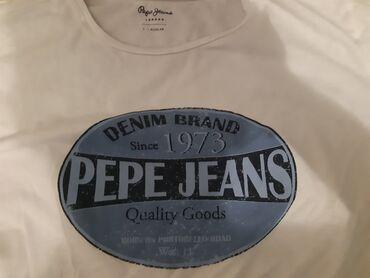 Muska majca l - Srbija: Peoe Jeans-Off White-Original muska majica-kolaboracija Pepe Jeans i