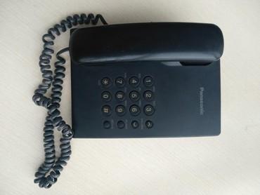 """Батарейки-на-телефон - Кыргызстан: Продаю телефон стационарный б/у всего за 200 сомМарка """"Panasonic"""", в"""