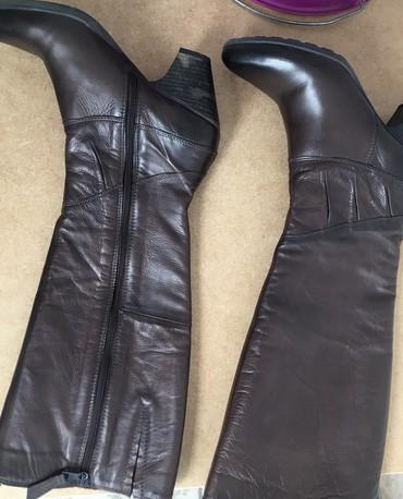 Zenske farmericecine - Srbija: Zenske Mjus italijanske kozne cizme. Kupljene u Italiji. Prodajem ih j