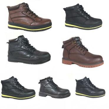 Кожаные ботинки. мех натуральный в Кок-Ой