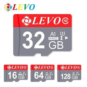 карты памяти uhs ii u3 для видеорегистратора в Кыргызстан: Карты памяти Levo A1 HC 10 класс.в наличии: 16Gb 360сом32gb