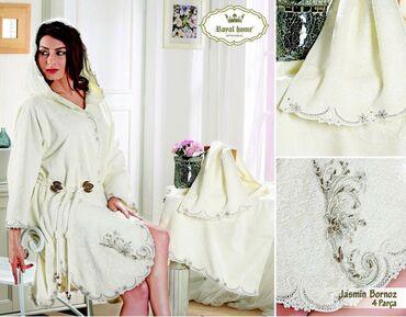 женское платье халат в Кыргызстан: Royal Home Royal Халат Бамбуковый Женский С Кружевом JasminХалат /