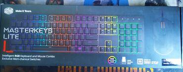 Клавиатуры - Кыргызстан: Продаю игровую качественную клавиатуру и мышку. Cooler Master