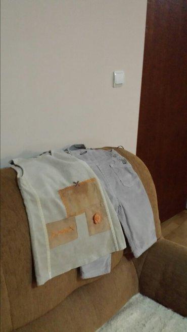 Pantalone i haljina od somota, za uzrast od godinu dana, nošene su - Velika Plana