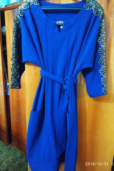 Платье тёмно-синие, новое.Размер 50 в Бишкек