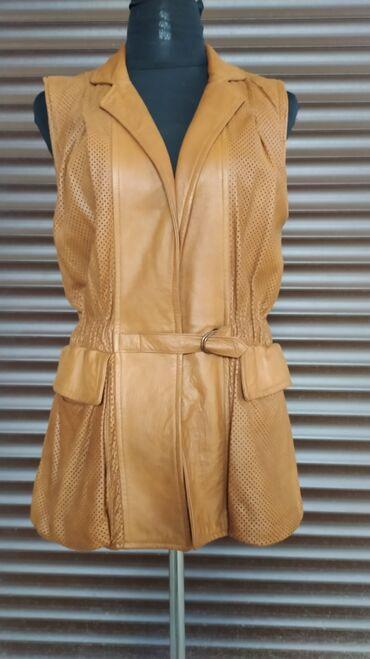 Женская одежда - Мыкан: Кожаная жилетка, кожа мягкая, размер 42-44, состояние идеальное