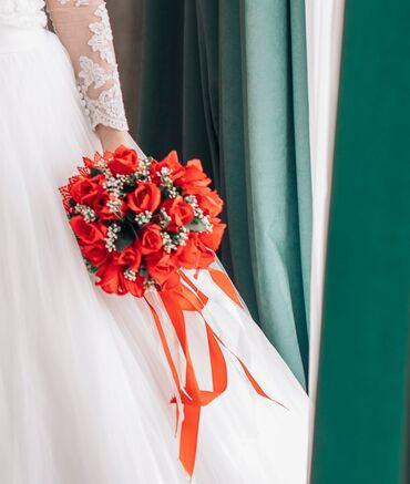 свадебный букет в Кыргызстан: Продам свадебный букетСостояние идеальноеПокупался для фотосессии в