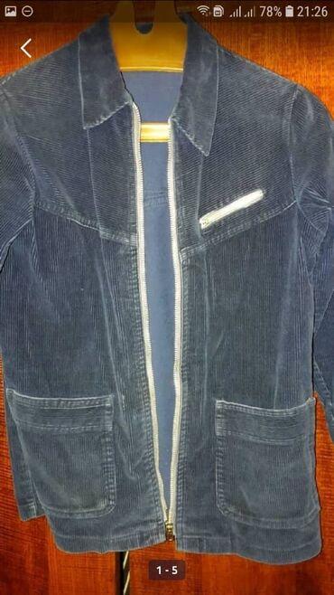 Вельветовый пиджак. Б/у.Состояние хорошее. Размер 9-12лет.Цвет темно
