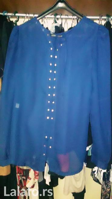Legantna zenska navy blue kosulja dugih rukava vel s / m - Kraljevo